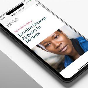 talent agency web design for Simon How